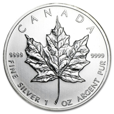 Stříbrná mince Canadian Maple Leaf 1 oz (2010)