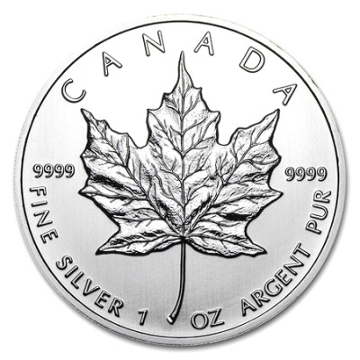 Stříbrná mince Canadian Maple Leaf 1 oz (2012)