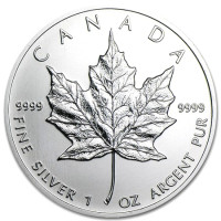 Stříbrná mince Canadian Maple Leaf 1 oz (2013)