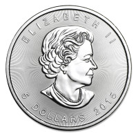 Stříbrná mince Canadian Maple Leaf 1 oz (2015)