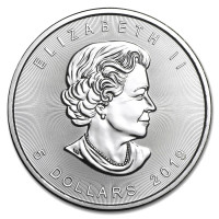 Stříbrná mince Canadian Maple Leaf 1 oz (2019)