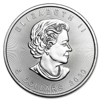 Stříbrná mince Canadian Maple Leaf 1 oz (2020)