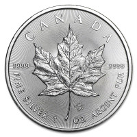 Stříbrná mince Canadian Maple Leaf 1 oz (2021)