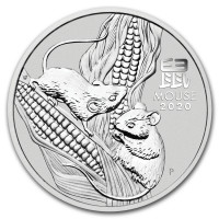 Stříbrná mince Year of the Mouse - Rok Myši 1 oz (2020)