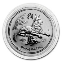 Stříbrná mince Year of the Dog - Rok Psa 1 oz (2018)